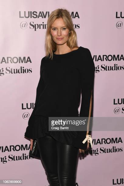 Charlott Cordes attends the LuisaViaRoma Opening Party @ Spring on November 16 2018 in New York City