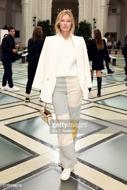 Charlott Cordes attends Tory Burch NYFW SS20 at the Brooklyn Museum on September 08 2019 in Brooklyn City