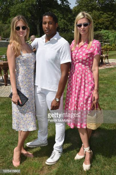 Charlott Cordes Hassan Pierre and Nicky Hilton Rothschild attend A Maison de Mode Summer Fete hosted by Amanda Hearst at Private Residence on August...