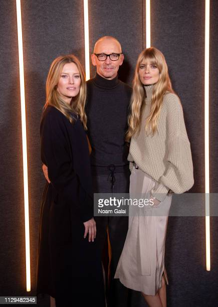 Charlott Cordes Ingo Wilts Chief Brand Officer and Julia Stegner attend the BOSS Womenswear Menswear fashion show during New York Fashion Week on...