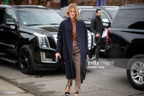 Charlott Cordes is seen outside Boss during New York Fashion Week Autumn Winter 2019 on February 13 2019 in New York City