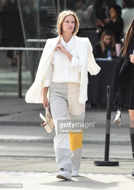 Charlott Cordes is seen outside the Tory Burch show during New York Fashion Week S/S20 on September 08 2019 in New York City