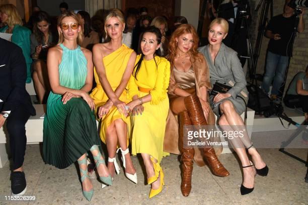 Charlott Cordes Nicky Hilton Tina Craig Palina Rojinski and Franziska Knuppe wearing Max Mara attend the Max Mara Resort 2020 Fashion Show at Neues...
