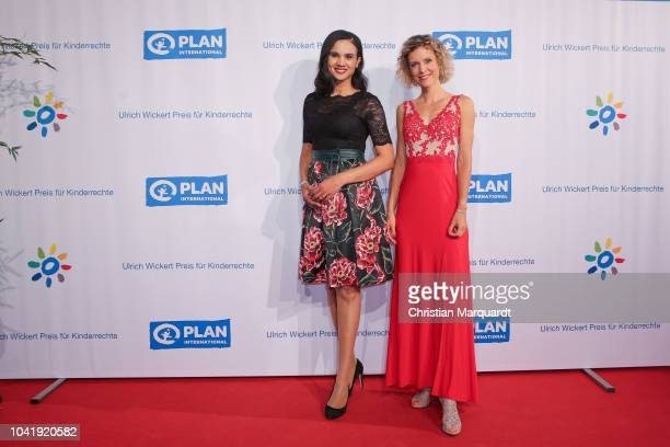 Charlott Maihoff and Annika Zimmermann attend the Ulrich Wickert and Peter SchollLatour award at Bar jeder Vernunft on September 27 2018 in Berlin...