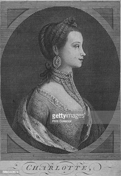 'Charlotte' 1761 Queen Charlotte Duchess Charlotte Sophia of MecklenburgStrelitz queen consort of King George III [London Magazine London 1761]...