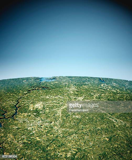 charlotte 3d view south-north natural color - frankramspott stockfoto's en -beelden
