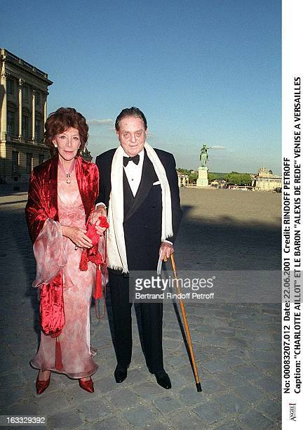Charlotte Aillaud and Baron Alexis De Rede at Venice At The Musee De Versailles