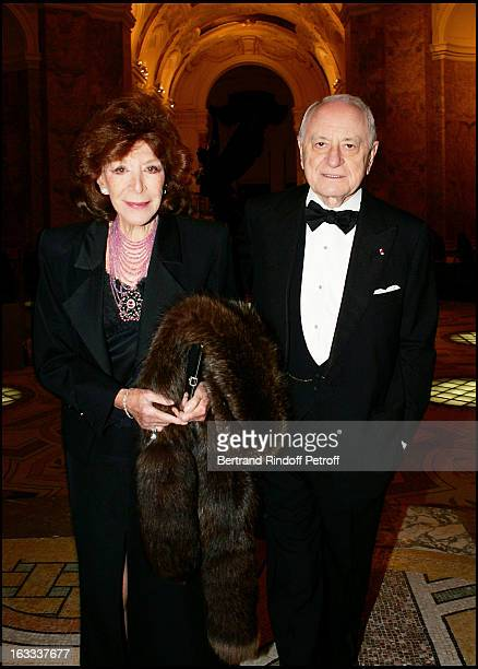 Charlotte Aillaud and Pierre Berge at The Scopus Award 2005 Gala Evening Held At The Petit Palais In Paris
