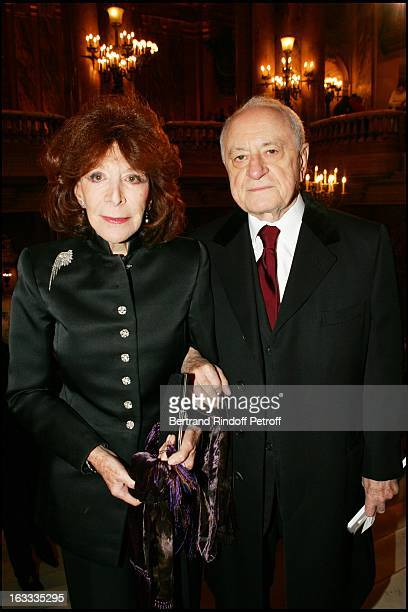 Charlotte Aillaud and Pierre Berge at the Theatre Mariinski Gala Evening at The Palais Garnier In Paris