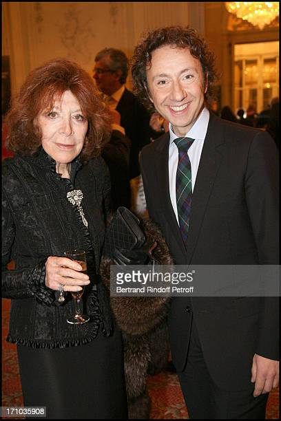 Charlotte Aillaud and Stephane Bern at Au Coeur De L' Ecosse Book Signing By Stephane Bern And Franck Ferrand At the British Embassy In Paris