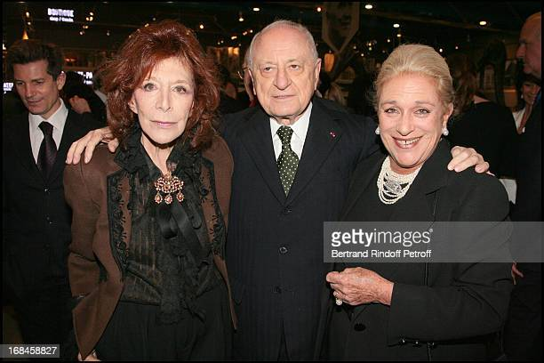 Charlotte Aillaud Pierre Berge and Helene De Lundinghausen at Gala Evening Societe Des Amis Du Musee National D'Art Moderne At The Centre Pompidou In...