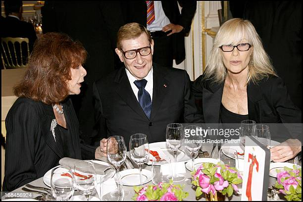 Charlotte Aillaud Yves Saint Alurent and Betty Catroux Dinner at the Yves Saint Laurent Pierre Berge foundation for the exhibition Les Voyages...