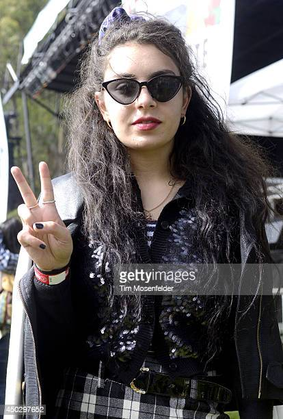 Charlotte Aitchison aka Charli XCX poses during the Chipotle Cultivate Festival at Hellman Hollow in Golden Gate Park on June 7 2014 in San Francisco...