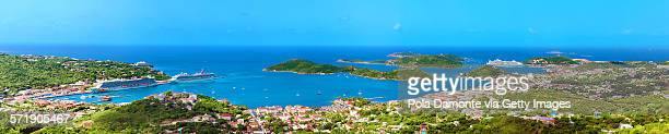 charlotte amalie, st. thomas, us virgin islands - magens bay stock photos and pictures