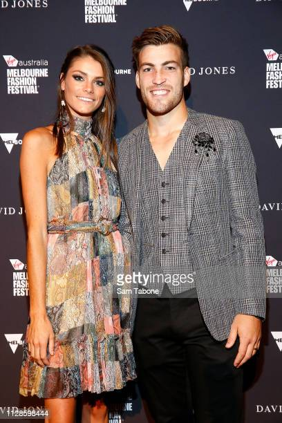 Charlotte and Jack Viney attends David Jones runway at Melbourne Fashion Festival on March 4 2019 in Melbourne Australia