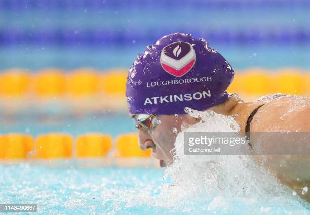 Charlotte Atkinson competes in the Women's 200m Butterfly heats during Day Three of the British Swimming Championships 2019 at Tollcross...