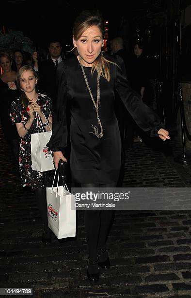 Charlotte Bellamy and Eden Taylor-Draper depart 'Inside Soap Awards 2010' at Gilgamesh on September 27, 2010 in London, England.