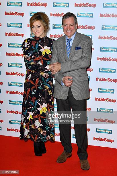 Charlotte Bellamy and John Middleton attend the Inside Soap Awards at The Hippodrome on October 3 2016 in London England