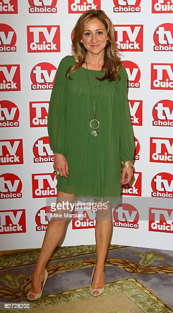Charlotte Bellamy arrives at the TV Quick TV Choice Awards at The Dorchester on September 8 2008 in London England
