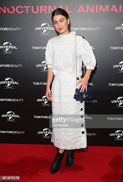 Charlotte Best arrives ahead of a screening of Tom Ford's film 'Nocturnal Animals' on November 9 2016 in Sydney Australia