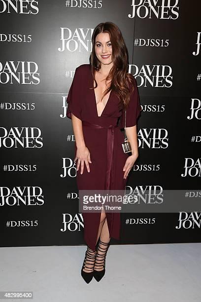 Charlotte Best arrives ahead of the David Jones Spring/Summer 2015 Fashion Launch at David Jones Elizabeth Street Store on August 5 2015 in Sydney...