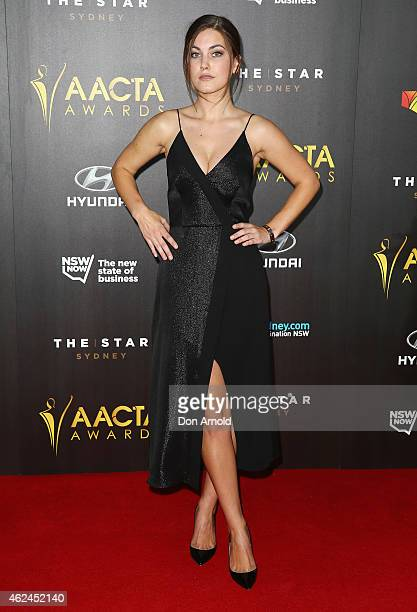 Charlotte Best arrives at the 4th AACTA Awards Ceremony at The Star on January 29 2015 in Sydney Australia