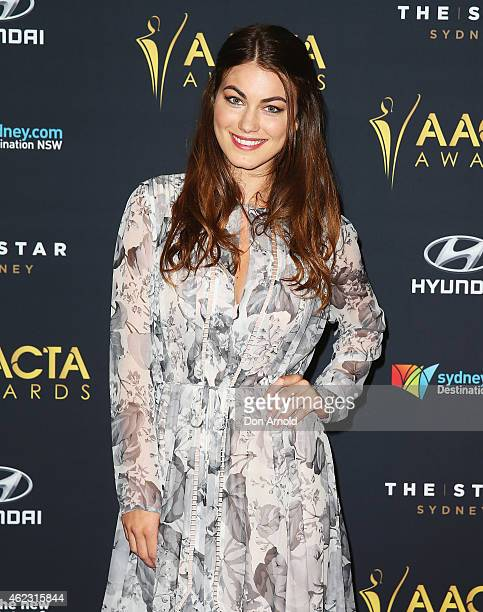 Charlotte Best arrives at the 4th AACTA Awards Luncheon at The Star on January 27 2015 in Sydney Australia