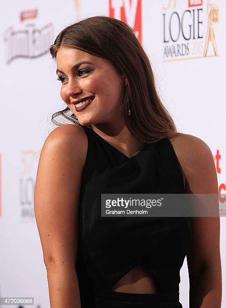 Charlotte Best arrives at the 57th Annual Logie Awards at Crown Palladium on May 3 2015 in Melbourne Australia