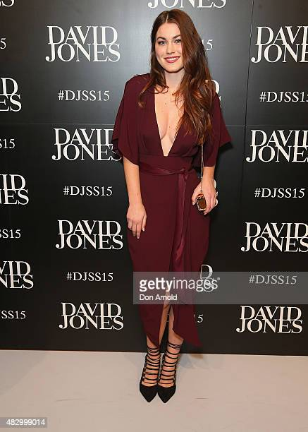 Charlotte Best arrives at the David Jones Spring/Summer 2015 Fashion Launch on August 5 2015 in Sydney Australia