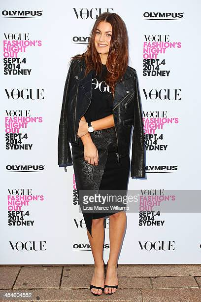 Charlotte Best arrives at the launch of Fashion's Night Out at Hyde Park on September 4 2014 in Sydney Australia