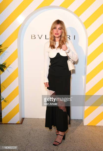 Charlotte Best attends the 2019 BVLGARI Art Award cocktail reception at Art Gallery Of NSW on October 22 2019 in Sydney Australia