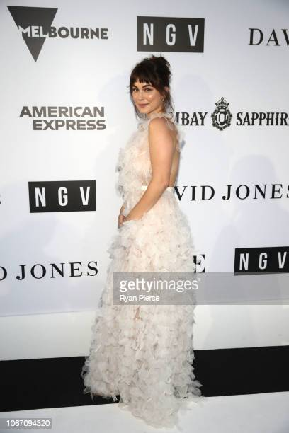 Charlotte Best attends the NGV Gala 2018 at National Gallery of Victoria on December 1 2018 in Melbourne Australia