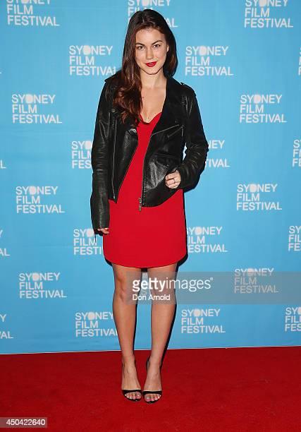 Charlotte Best poses at the Australian premiere of the The Last Impresario during the Sydney Film Festival on June 11 2014 in Sydney Australia