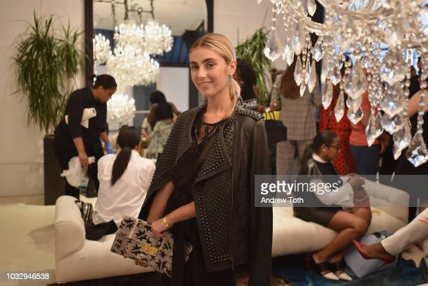 Charlotte Bickley attends the celebration of the BCBGMAXAZRIA SoHo store opening with Kate Young Bernd Kroeber and InStyle on September 13 2018 in...