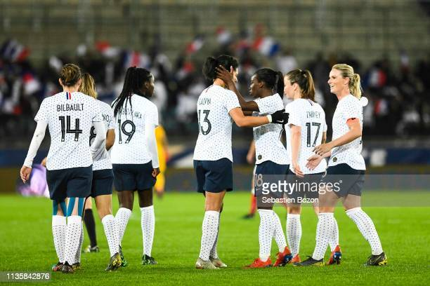 Charlotte Bilbault of France Griedge Mbock Bathy Nka of France Valerie Gauvin of France and Viviane Asseyi of France during the International Women's...