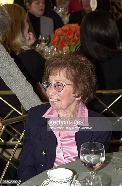 Charlotte Bloomberg Mayor Michael Bloomberg's 94yearold mother is present for a luncheon at the St Regis Hotel on Fifth Ave where the American Cancer...