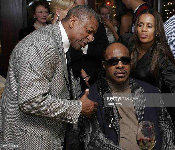 Charlotte Bobcats owner Bob Johnson Stevie Wonder and wife Kai Milla fashion designer