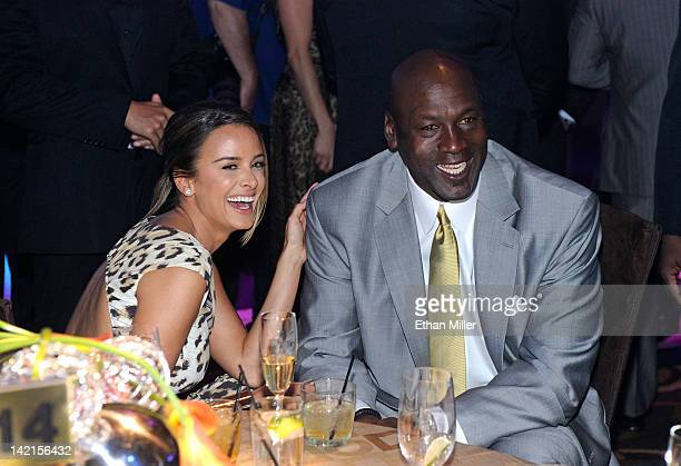 Charlotte Bobcats owner Michael Jordan and fiancee Yvette Prieto attend the 11th annual Michael Jordan Celebrity Invitational gala at the Aria Resort...