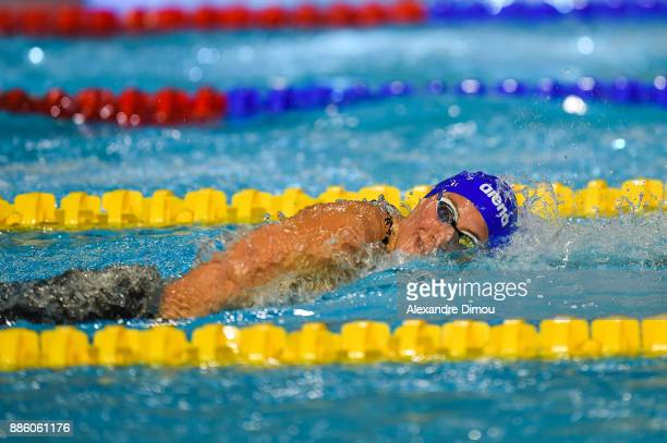 Charlotte Bonnet in Final 400m Freestyle of the French National Swimming Championships on December 3 2017 in Montpellier France