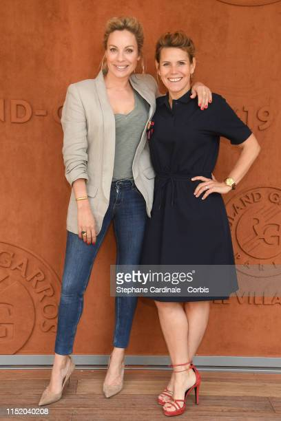 Charlotte Bouteloup and Laura Tenoudji aka Laura du web attend the 2019 French Tennis Open Day Two at Roland Garros on May 27 2019 in Paris France