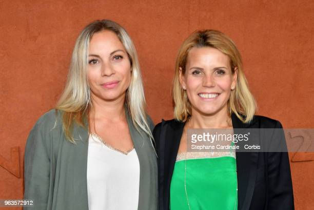 Charlotte Bouteloup and Laura Tenoudji attend the 2018 French Open Day three at Roland Garros on May 29 2018 in Paris France