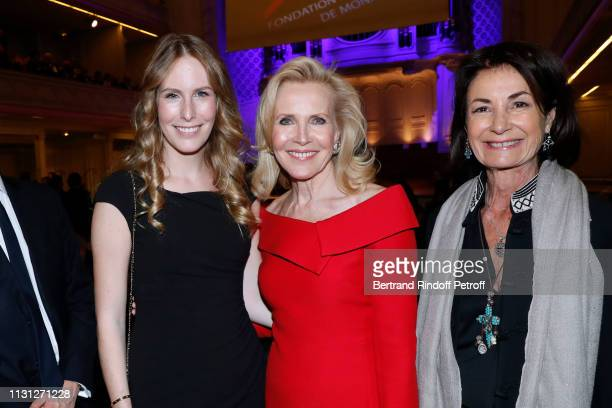 Charlotte Bouygues Melissa Bouygues and Valerie Breton attend the Fondation Prince Albert II De Monaco Evening at Salle Gaveau on February 21 2019 in...