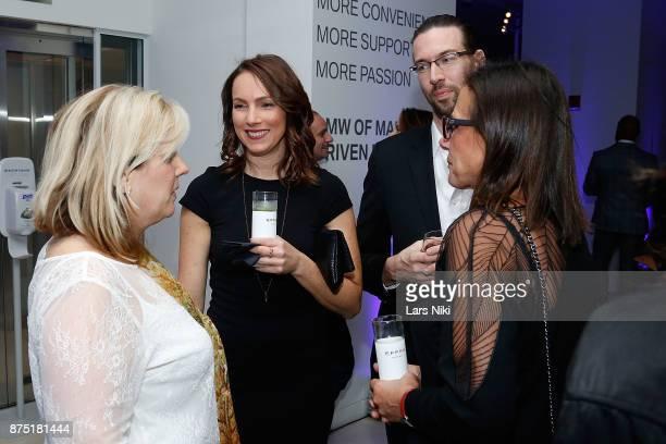 Charlotte Bowman Catherine Clark Brandon Cole and Hiedi Rosenbaum attend the Gotham Men's Issue Celebration at the BMW of Manhattan Showroom on...