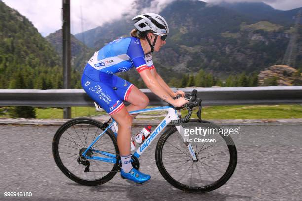 Charlotte Bravard of France and Team FDJ Nouvelle Aquitaine Futuroscope / during the 29th Tour of Italy 2018 Women Stage 7 a 15km Individual time...