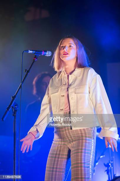 Charlotte Brimner aka Be Charlotte performs on stage at Barrowland Ballroom on April 26 2019 in Glasgow Scotland