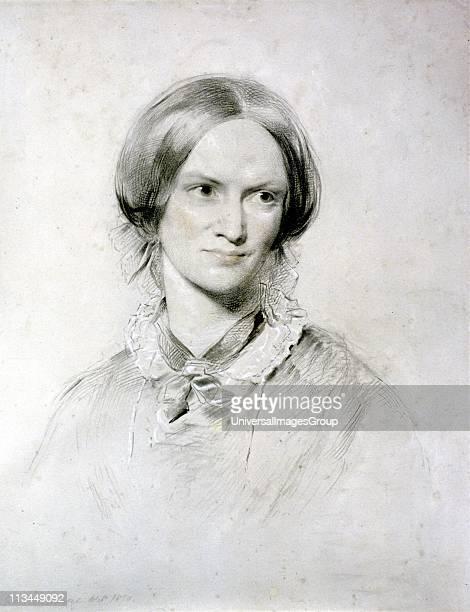 Charlotte Bronte English novelist Author of Jane Eyre Shirley Vilette Portrait by George Richmond English artist