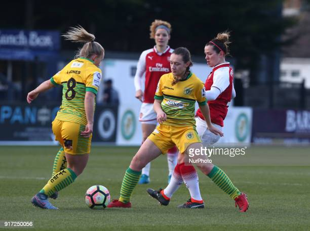 Charlotte Buxton of Yeovil Town Ladies during Women's Super League 1match between Arsenal against Yeovil Town Ladies at Meadow Park Boreham wood FC...