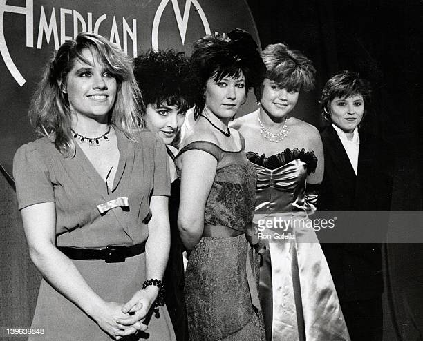 Charlotte Caffey Jane Weidlin Kathy Valentine Belinda Carlisle and Gina Shock attend 10th Annual American Music Awards on January 17 1983 at the...