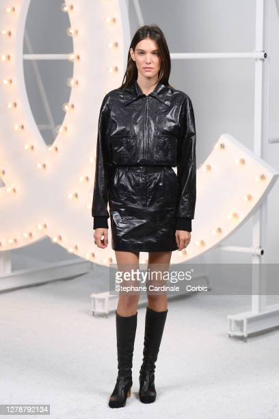 Charlotte Cardin attends the Chanel Womenswear Spring/Summer 2021 show as part of Paris Fashion Week on October 06, 2020 in Paris, France.