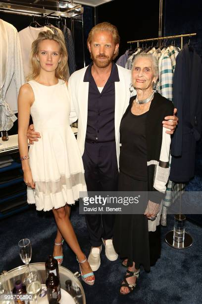 Charlotte Carroll Alistair Guy and attend s the La Perla x Alistair Guy 'The Ultimate Summer Wardrobe' party at La Perla Burlington Arcade on July 10...